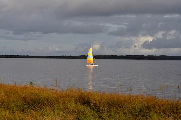 catamaran on Lake Wollumboola